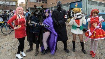 la cultura del comic y el anime copo el parque central