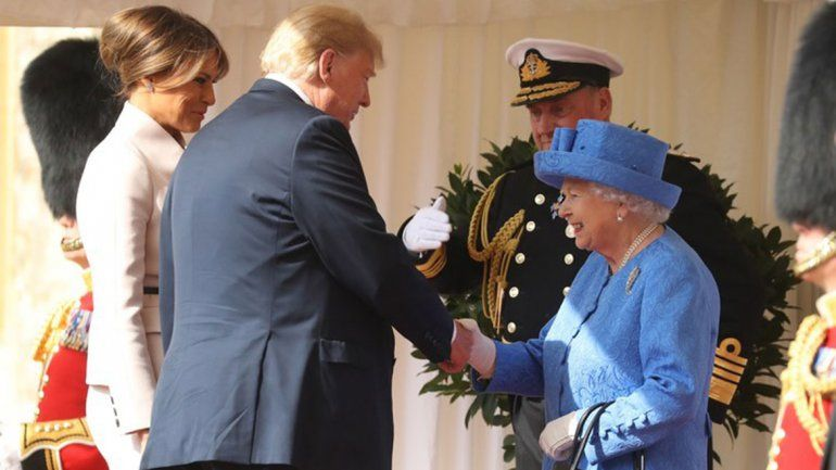 Trump tomó el té con la reina Isabel II en el castillo de Windsor