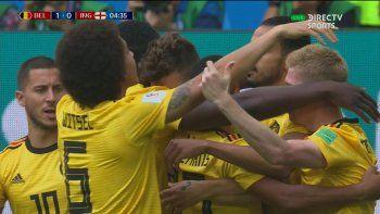 Bélgica le ganó 2 a 0 a Inglaterra y se quedó con el tercer puesto