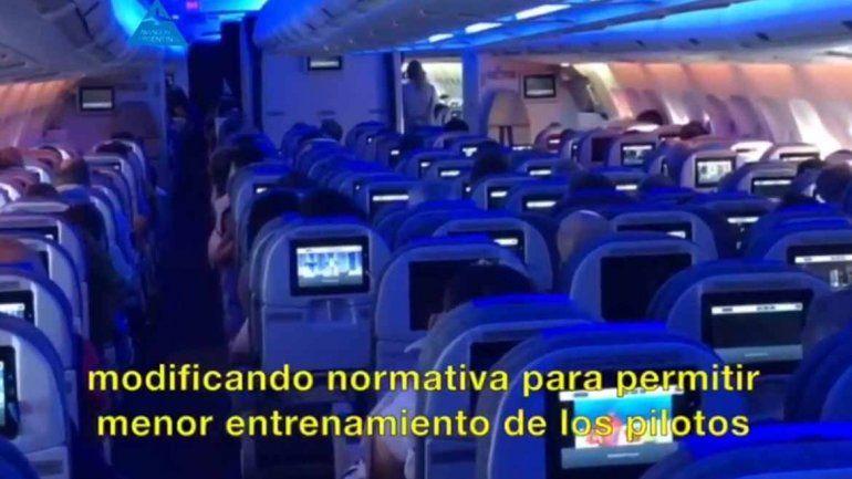 Aerolíneas denunció a uno de los gremios por el comunicado en pleno vuelo