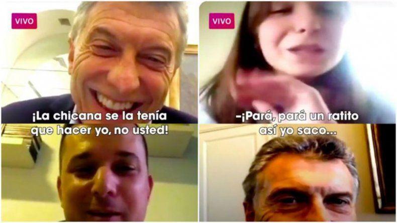 Macri ahora hace videollamadas, pero seguirá timbreando