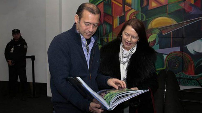 Visita de la embajadora de Eslovenia