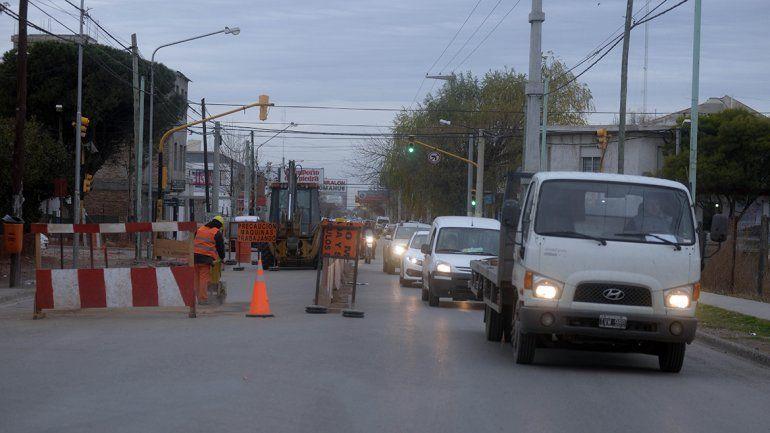 Así está el mapa de tránsito por los cortes de calle en Neuquén
