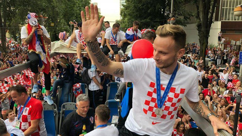 En Croacia recibieron a su selección con todos los laureles.