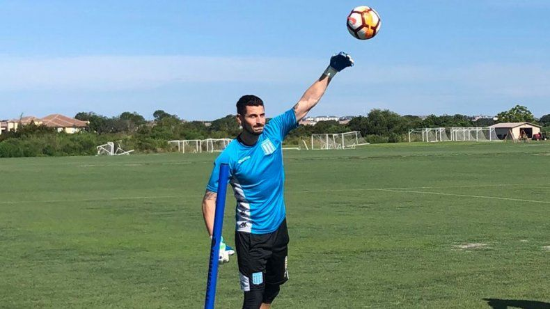 Arias en la pretemporada de Racing