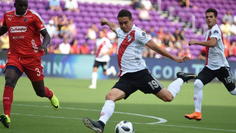 El colombiano Santos Borré tuvo la chance de ser titular.