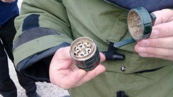 falsa alarma: confunden un picador de marihuana con una granada