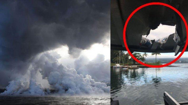 Mientras el barco hacía un tour de lava