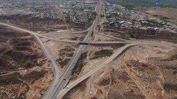 los rulos del tercer puente estaran en enero: asi sera la obra vista desde el drone de lmn