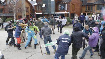 san martin: incidentes entre municipales y comerciantes