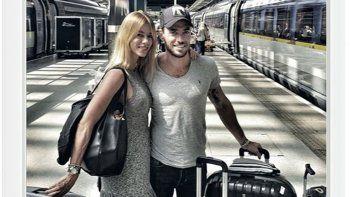 Nicole se encuentra en Europa junto a su novio Matías Tasín. Fueron a Londres y a Bélgica.