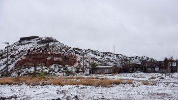 La nieve fue la protagonista del día en Neuquén