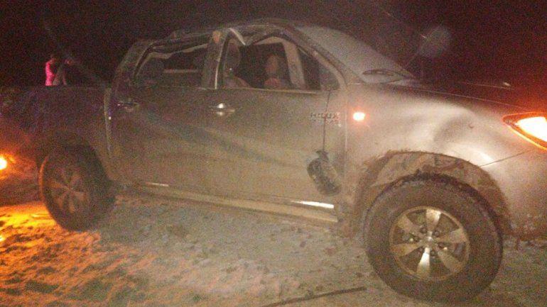 Volcaron camino a Añelo durante el temporal de nieve: un herido