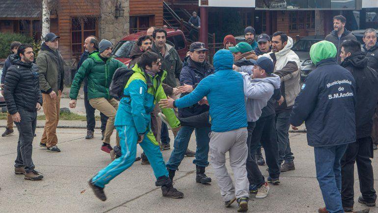 El miércoles hubo momentos de mucha violencia en San Martín.