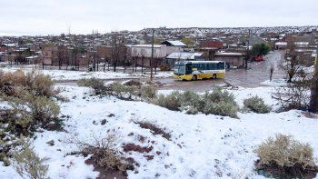 Una breve visita de la nieve en el Alto Valle