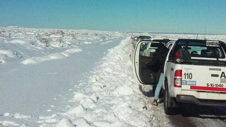 Por la nieve hay tres rutas provinciales con cortes