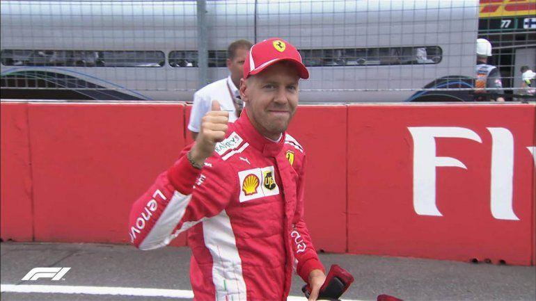 Vettel se quedó con la pole en el Gran Premio de Alemania