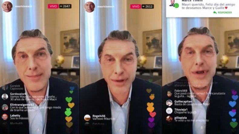 La imitación de Freddy Villarreal sobre el Instagram Live de Macri