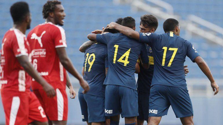 Boca le ganó a Independiente de Medellín por 4 a 2