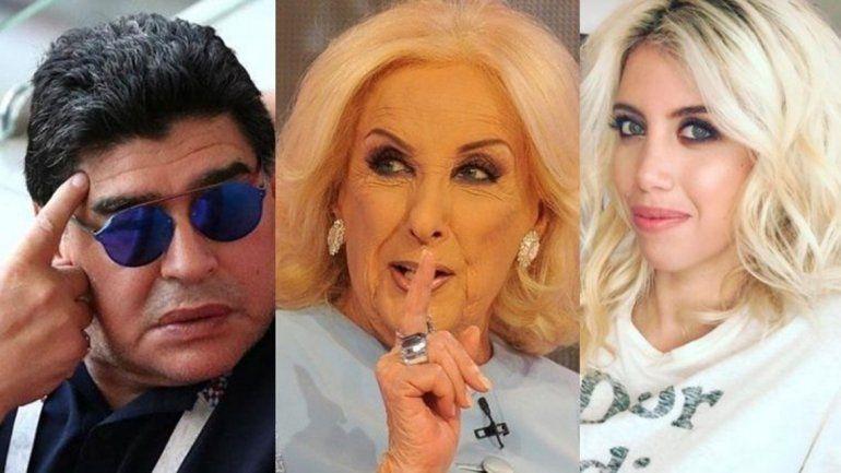 Mirtha y la apasionada noche de hotel de Wanda y Maradona que no la dejó dormir