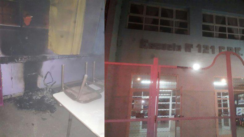 Un incendio destrozó un aula y dejó sin clases a la Escuela 121