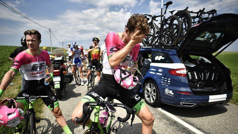 Tiraron gas pimienta en una protesta en medio del Tour de France