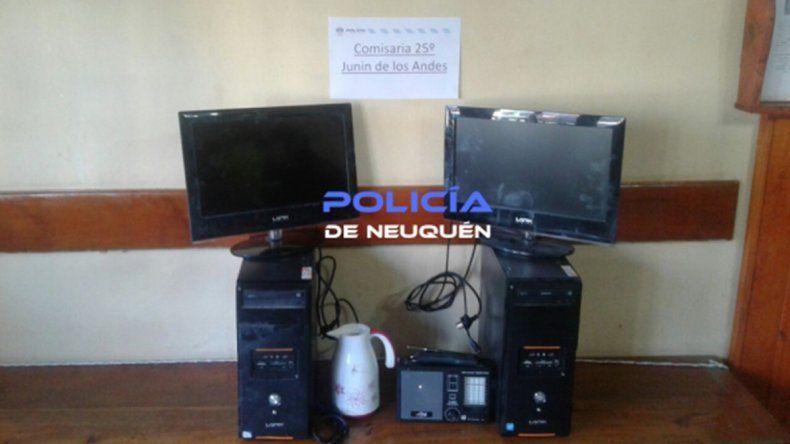 Encontraron en un auto las computadoras robadas de Centro municipal de Junín
