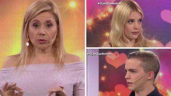 La furia de Politti con dos enamorados en uno de los últimos programas de Ojos que no ven