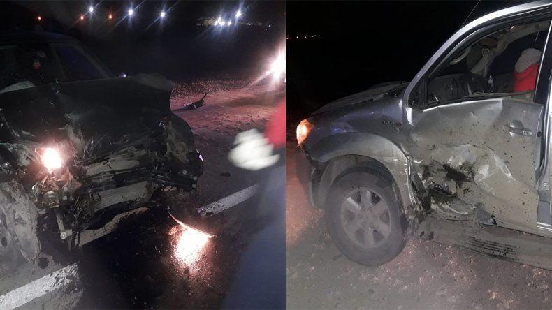 Tres niños heridos en fuerte choque en la Autovía Norte