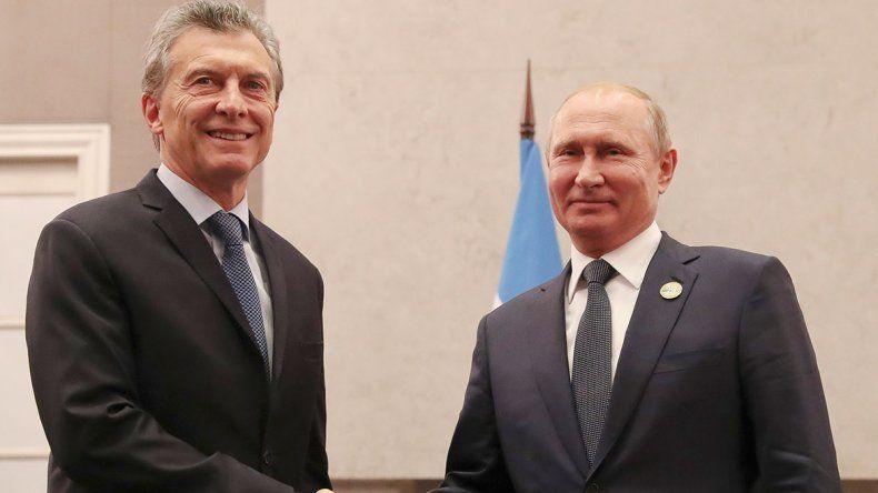 El Presidente habló con Putin sobre inversiones ferroviarias.