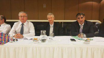 Los jueces de la Cámara Laboral Raúl Santos, Luis Méndez y Luis Lavedán.