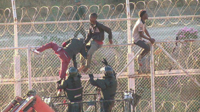 Cruzaron la frontera en Ceuta.