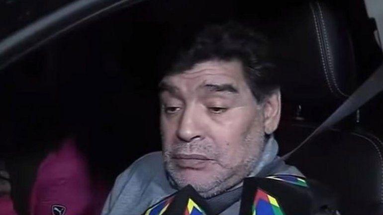 Maradona insulta a su sobrino en pleno directo