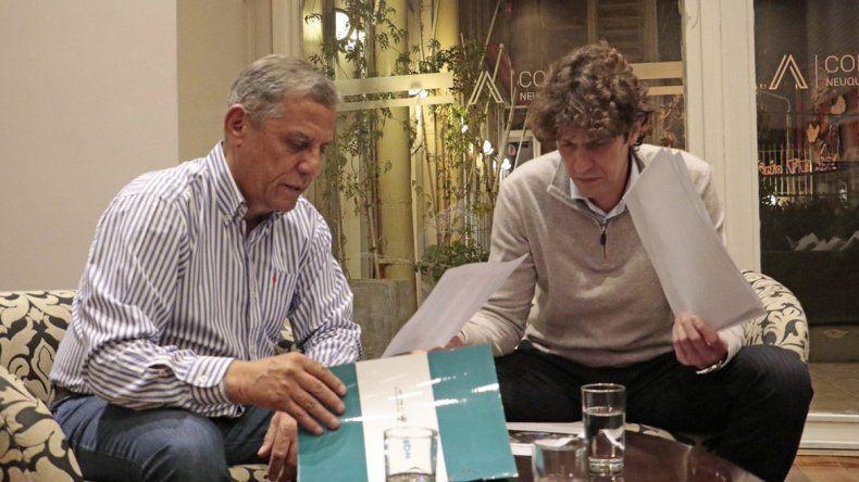 Lousteau llegó a Neuquén y se mostró con Pechi Quiroga