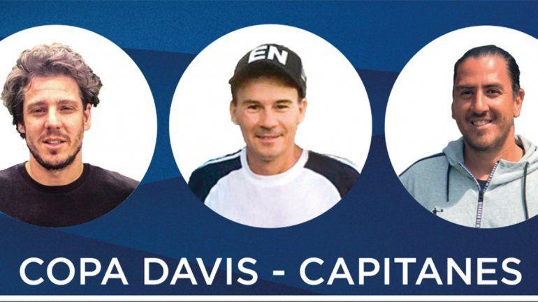 Gaudio, Coria y Cañas son los nuevos capitanes de la Copa Davis