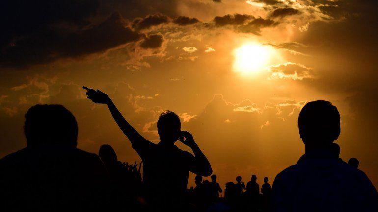 Así se vio el eclipse en Berlín.