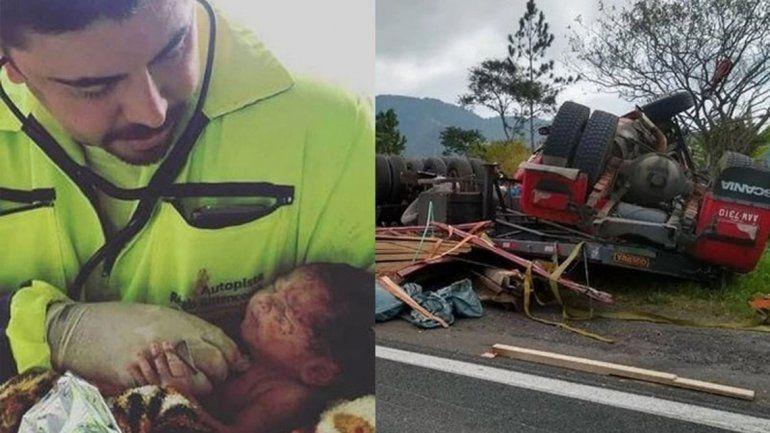 La niña fue rescatada del cuerpo de su mamá