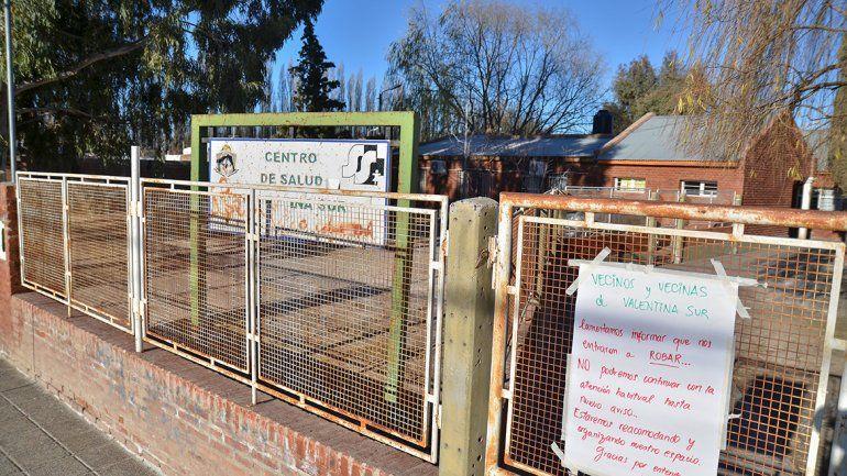 Desvalijaron el centro de salud de Valentina Sur