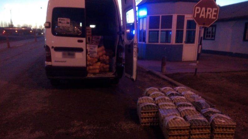 Secuestraron 300 docenas de huevos del mercado concentrador