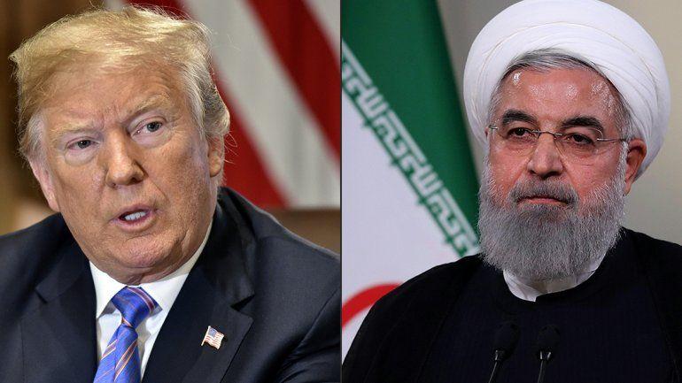 Trump dijo estar listo para reunirse con el presidente iraní