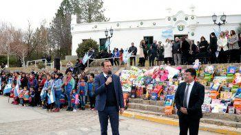 Gutiérrez encabezó acto por el aniversario de Chos Malal