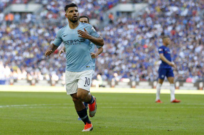 Manchester City sumó un nuevo titulo gracias al histórico Kun Agüero