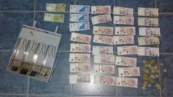 violento robo: se llevaron la recaudacion y los atraparon
