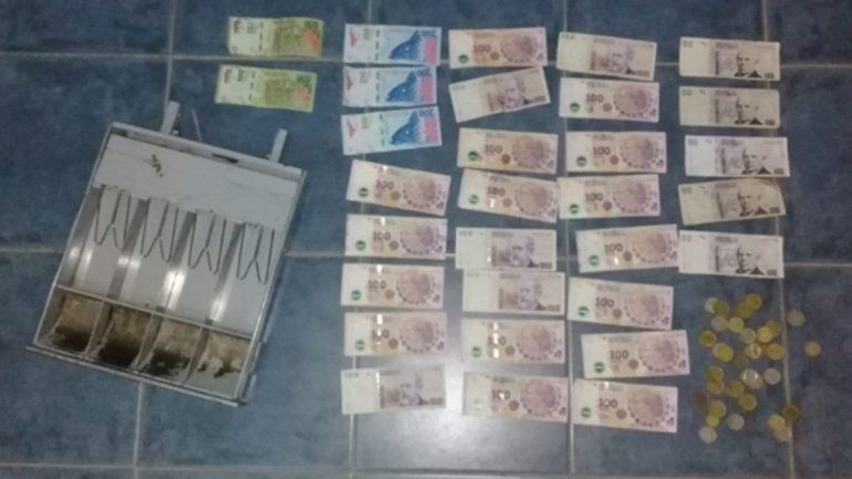 Violento robo a un comercio: le llevaron la recaudación pero los atraparon