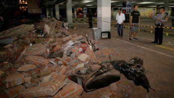La alerta de tsunami, con el paso de las horas, se fue diluyendo.