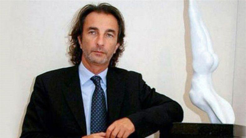 Ángelo Calcaterra se presentó ayer en los Tribunales de Comodoro Py.