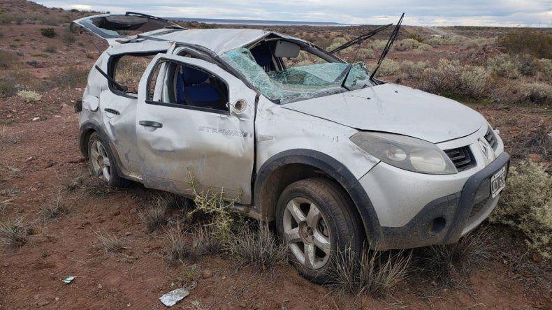 Una mujer pampeana murió tras volcar en la Ruta 237