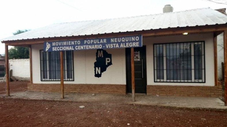 Llamativo robo al local del MPN en Centenario, a pocos días de las elecciones