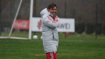Gallardo, técnico de River, habló en la previa del partido con Racing de mañana, retomando la Libertadores.