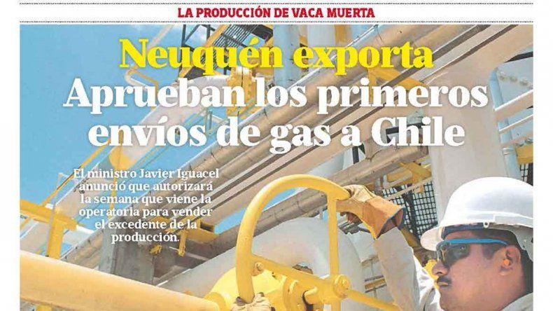 Neuquén exporta: aprueban los primeros envíos de gas a Chile